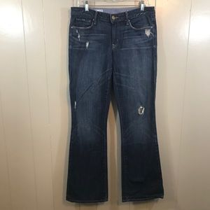 GAP Sexy Boot Distressed Mid Rise Stretch Jeans 10